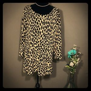 Cato Women's Leopard Print Pattern Sweater